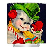 Frosty The Snowman Shower Curtain