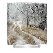 Frosty Trail 2 Shower Curtain
