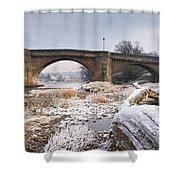 Frosty Tyne Shower Curtain