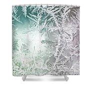 Frosty Windowpane Shower Curtain
