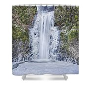 Frozen At Multnomah Falls Shower Curtain