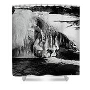 Frozen Basin Shower Curtain