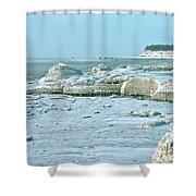 Frozen Beach Shower Curtain