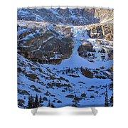 Frozen Black Lake Shower Curtain