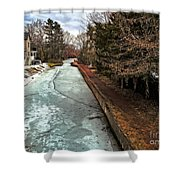 Frozen Canal Shower Curtain