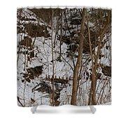 Frozen Dam Shower Curtain