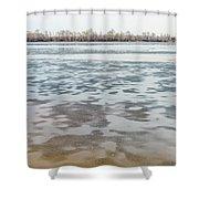 Frozen Dnieper River Shower Curtain