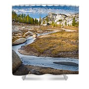 Frozen Enchantments Creek Shower Curtain