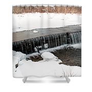 Frozen Falls At Pine Creek Shower Curtain