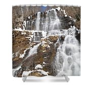 Frozen Falls From The Bridge Shower Curtain