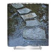Slippery Stone Path Shower Curtain