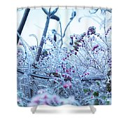 Frozen In Ice Nature Shower Curtain