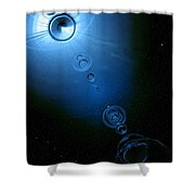 Frozen In Time And Space Shower Curtain by Phil Perkins
