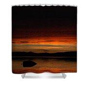 Lake Umbagog Marbled Moment Shower Curtain