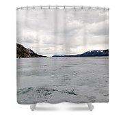 Frozen Lake Laberge Yukon Canada Shower Curtain