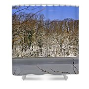 Frozen Lake Shower Curtain