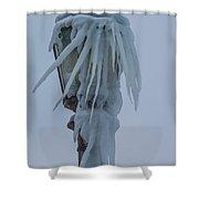 Frozen Lantern At The Falls Shower Curtain
