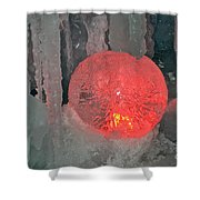 Frozen Marble Shower Curtain