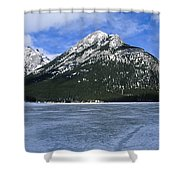 Frozen Minnewanka Shower Curtain