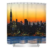 Frozen-new York At Dawn  Shower Curtain