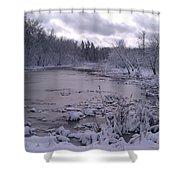 Frozen Pond Shower Curtain