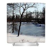 Frozen Pond2 Shower Curtain