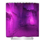 Frozen Purple Rain Shower Curtain