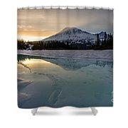 Frozen Rainier Vision Shower Curtain