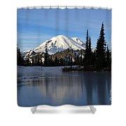 Frozen Reflection Shower Curtain