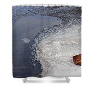 Frozen Rock Shower Curtain