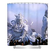 Frozen Samurai Warriors Shower Curtain