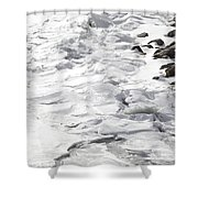 Frozen Shoreline Shower Curtain
