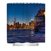 Frozen Skyline Shower Curtain