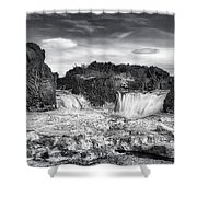 Frozen Splendor Shower Curtain