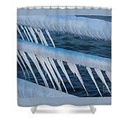 Frozen Stiff Shower Curtain