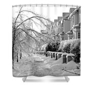 Frozen Suburbia Shower Curtain