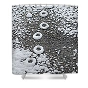 Frozen Tracks Shower Curtain
