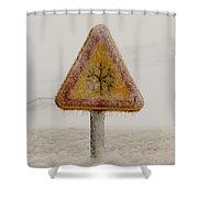 Frozen Traffic Sign Shower Curtain