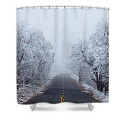 Frozen Trees Shower Curtain