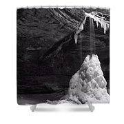 Frozen Waterfall Shower Curtain