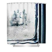 Frozen Windowpane Shower Curtain