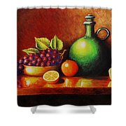 Fruit And Jug Shower Curtain