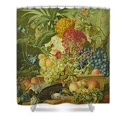 Fruit Flowers And Dead Birds Shower Curtain
