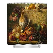 Fruit Flowers And Game Shower Curtain