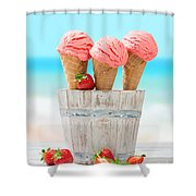 Fruit Ice Cream Shower Curtain