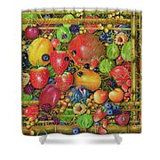 Fruit In Bamboo Box Shower Curtain