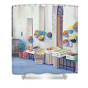 Fruit Market In Tuscany Shower Curtain
