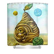 Fruit Of Knowledge Shower Curtain