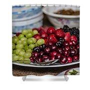 Fruit Plate Shower Curtain
