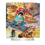Fruit Shop In The Mountains Of Gran Canaria Shower Curtain